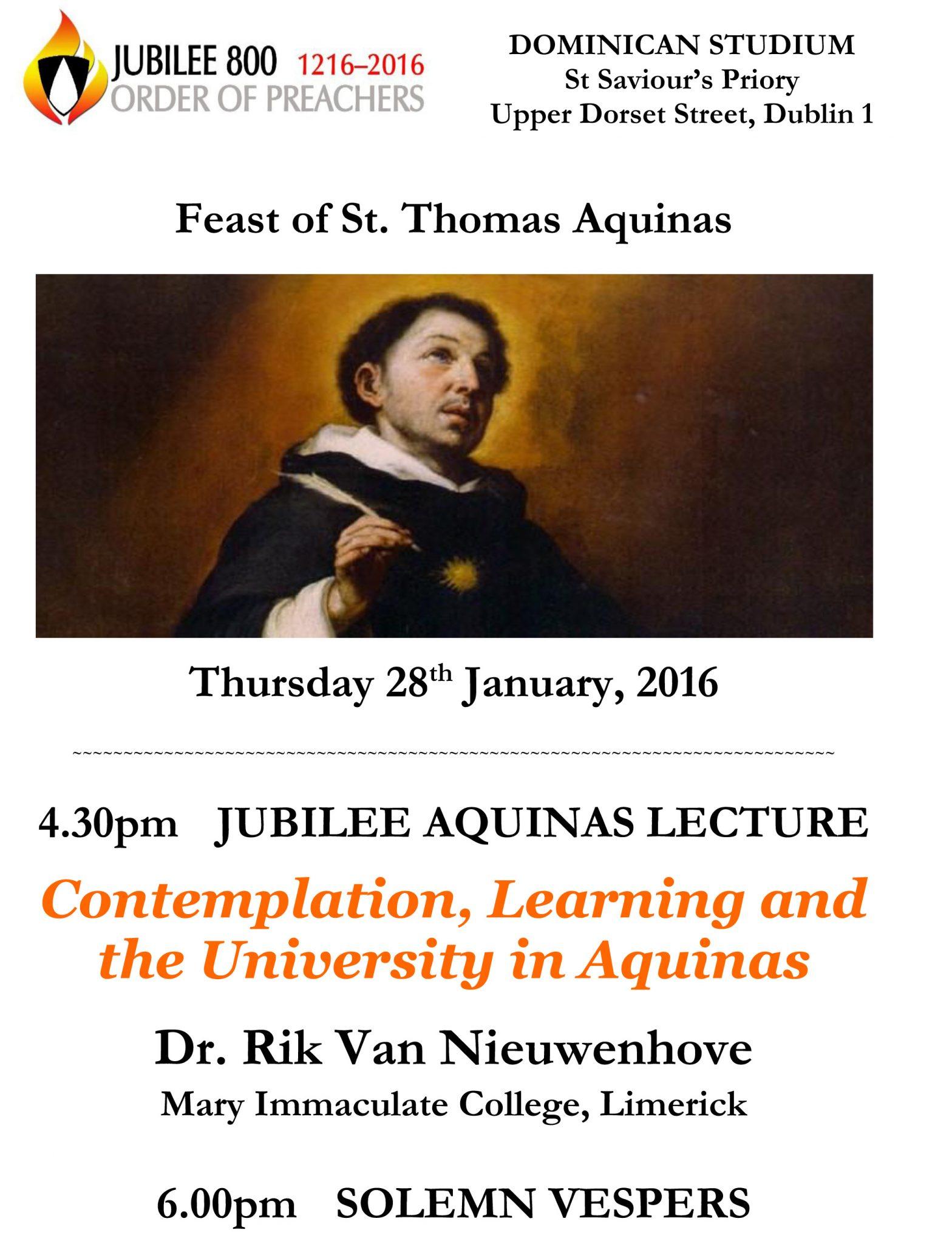 Aquinas-Lecture